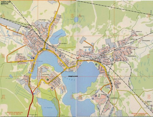 Генплан: город Бологое  поделен на 20 зон