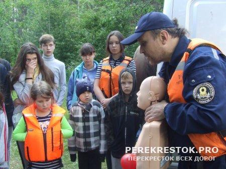 """Сотрудники ГИМС побывали в лагере """"Радуга""""..."""